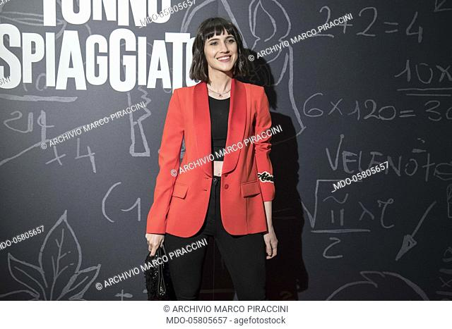 The italian actress Lodovica Comello at the photocall of the film Tonno Spiaggiato, directed by Matteo Martinez, eith Frank Matano at the Cinema Anteo