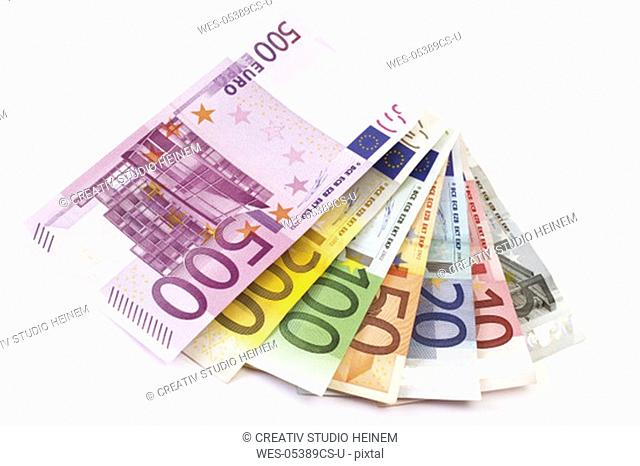 Fanned Euro notes