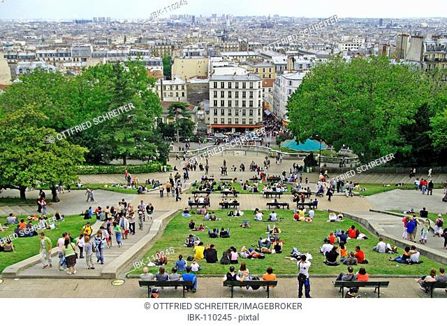 View from Sacre Coeur to Paris downtown, Paris, France