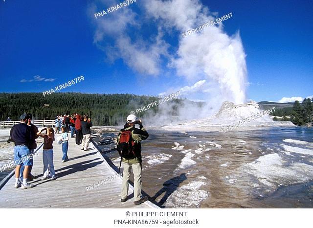 Yellowstone national park, Upper geyser basin, Castle geyser, Wyoming, United States of America, USA, North America