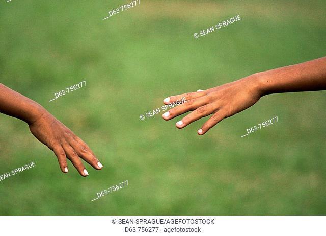 Hands of children, Cambodia
