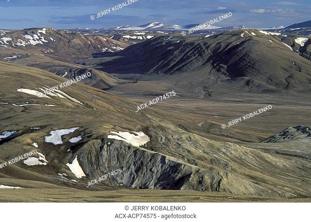Strathcona Fiord, Ellesmere Island, Nunavut. This area has yielded many important fossils, and is also coveted by mining companies