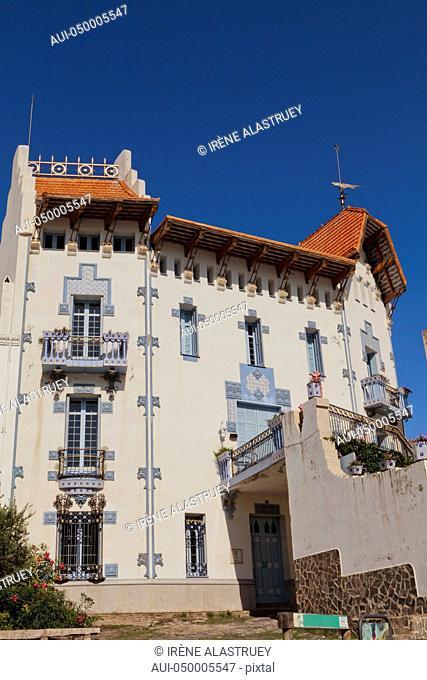 Spain - Costa Brava - Cadaques - stylish blue house -