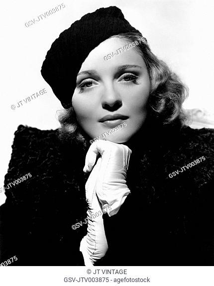 Anna Sten, Publicity Portrait, on-set of the Film, We Live Again, 1934