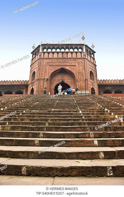 India, New Delhi, Jama Masjid mosque