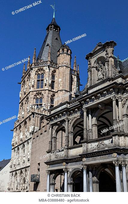 Renaissance bower of the old city hall in Cologne, North Rhine-Westphalia, Germany