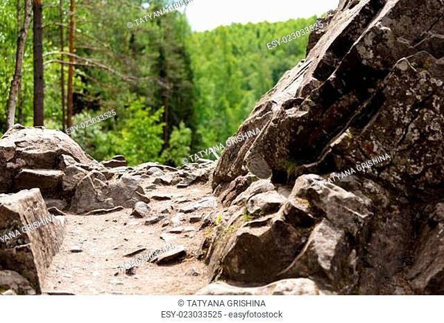 path among the rocks. northern nature