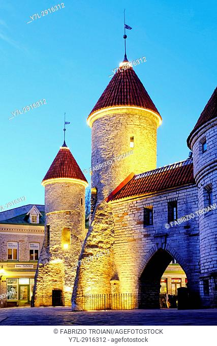 The barbican of Viru Gate, Tallinn, Estonia