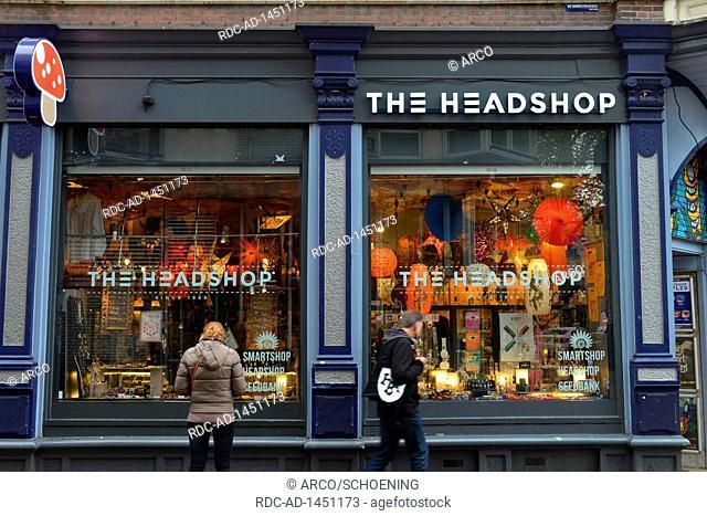 The Headshop, Kloveniersburgwal, Amsterdam, Niederlande