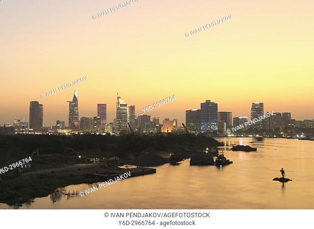 Ho Chi Minh City at Sunset, Vietnam