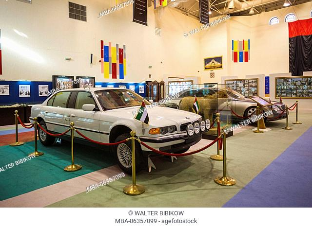 UAE, Abu Dhabi, Sheikh Zayed Research Center, royal car collection, armored BMW