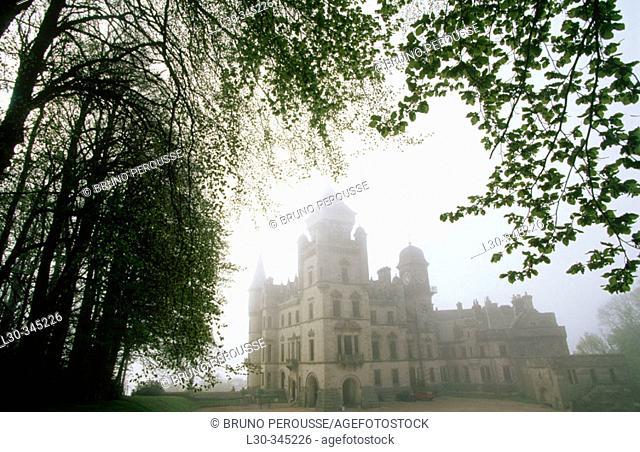 Castle. Dunrobin. Highlands. Scotland. UK