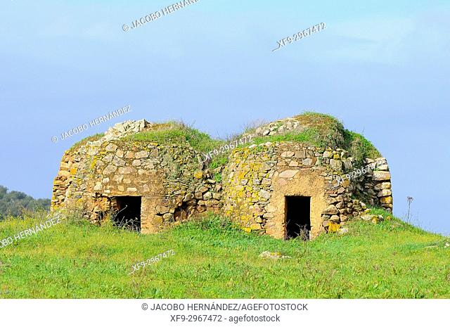 Rural architecture. Pigsties. Fronteira. Alentejo. Portugal