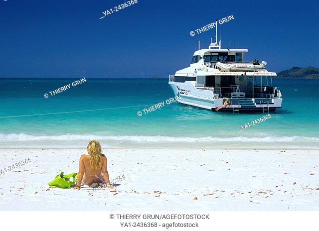 Australia, Queensland, Whitsunday island, Whitehaven beach