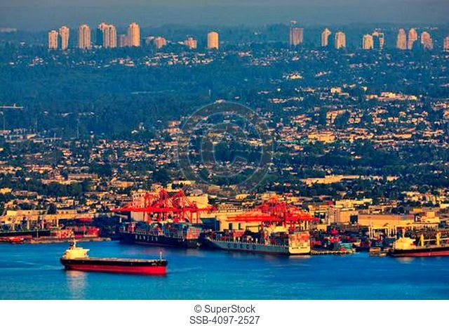 Boats at a harbor, Burnaby, Vancouver, British Columbia, Canada