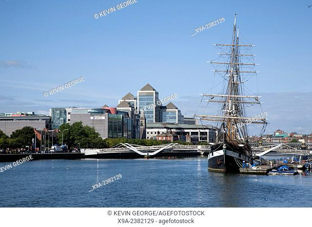 Jeanie Johnston Sailing Ship, River Liffey, Docklands, Dublin