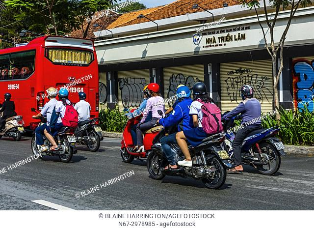 Two wheeled traffic, Ho Chi Minh City (Saigon), Vietnam