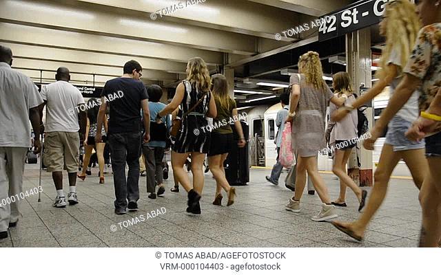 42nd Street, Grand Central Terminal, Subway, Metro, Train, New York City