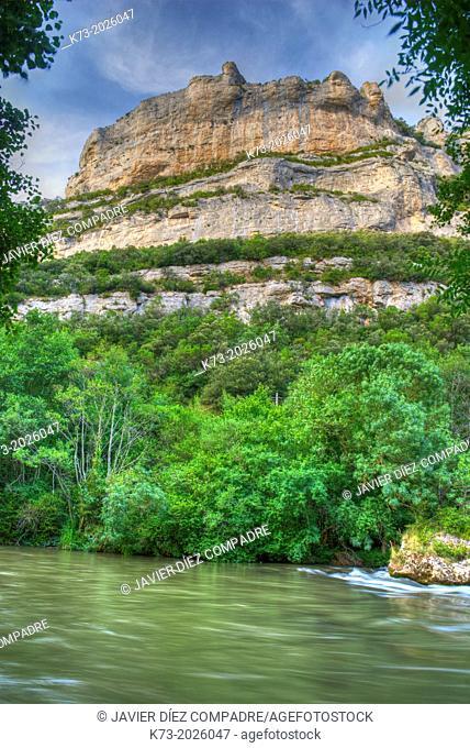 Ebro River Gorge. Valdenoceda. Burgos Province. Castilla y Leon. Spain