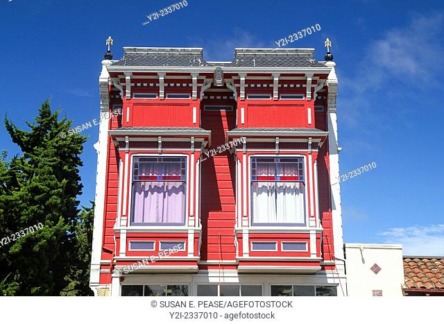 Detail of Victorian architecture in Ferndale, California, United States, North America