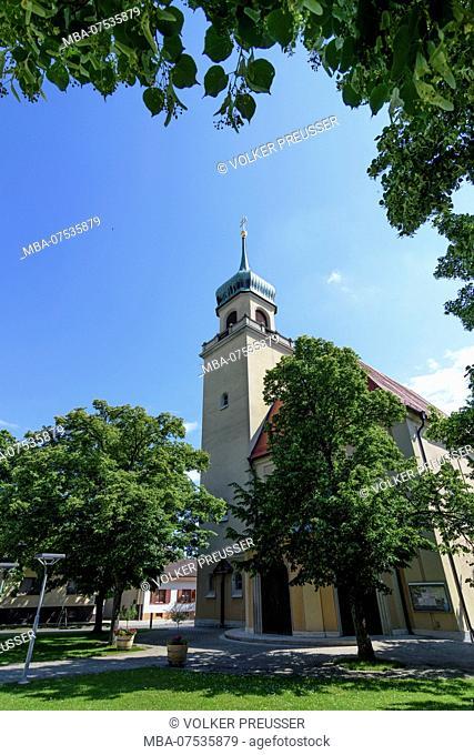 Horitschon, church Hl. Margaretha in Horitschon in Austria, Burgenland, Mittelburgenland