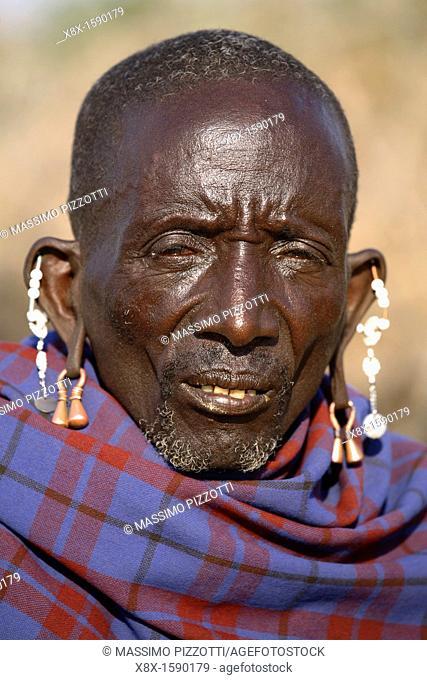 Portrait of a Maasai man, Ngogongoro conservation Area, Tanzania