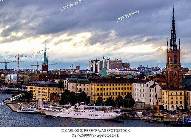 View of Gamla Stan from Sodermalm, Stockholm, Sweden