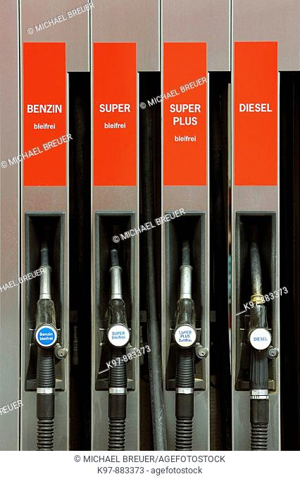 Gas pumps, Gasoline station, Germany