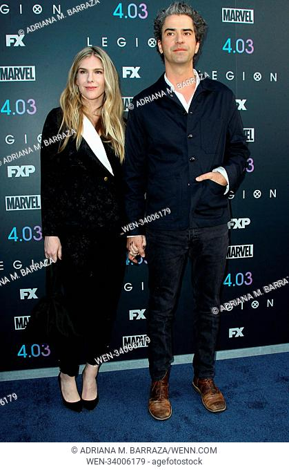FX's 'Legion' Season Two Premiere held at the DGA Theatre in Los Angeles, California. Featuring: Lily Rabe, Hamish Linklater Where: Los Angeles, California