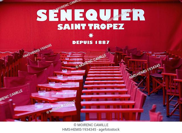 France, Var, Saint Tropez, cafe Senequier