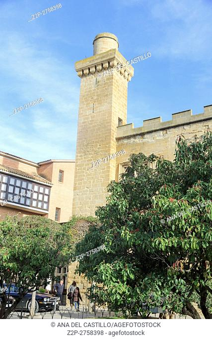 Olite castle a state run hotel or parador Navarre, Spain