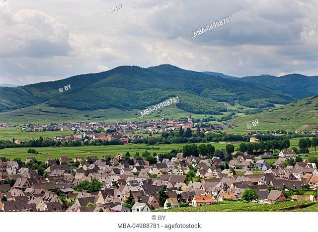 View at Kientzheim and Kaysersberg, Alsace
