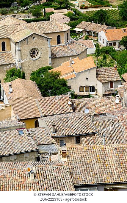 View over the Village Bonnieux,Provence, France