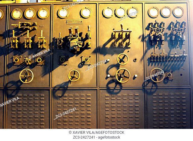 Old electrical transformer, Mine of Saint Etienne, Couriot mine, Loire, Rhone Alpes, France