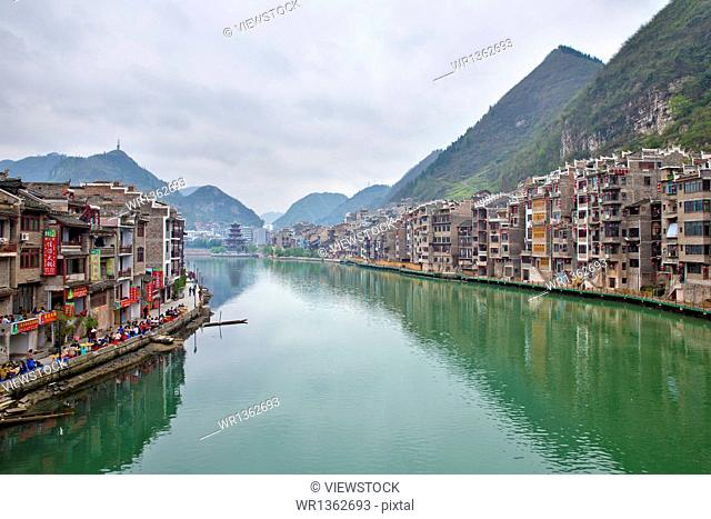 Far from the ancient city of Guizhou Province, scenery
