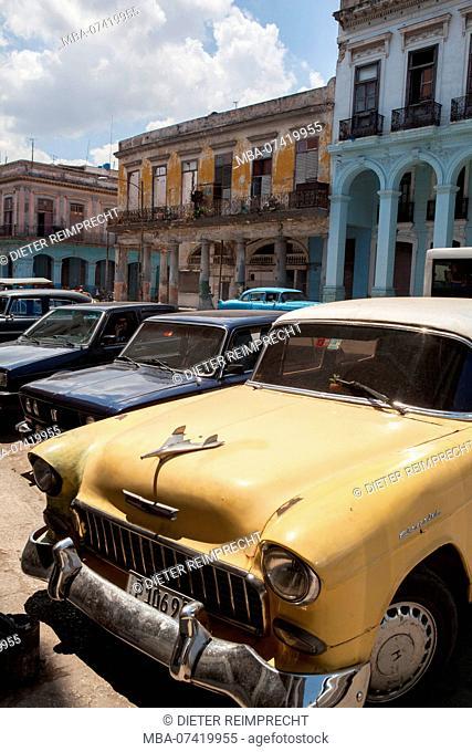 Vintage car in old town, Havana, Cuba