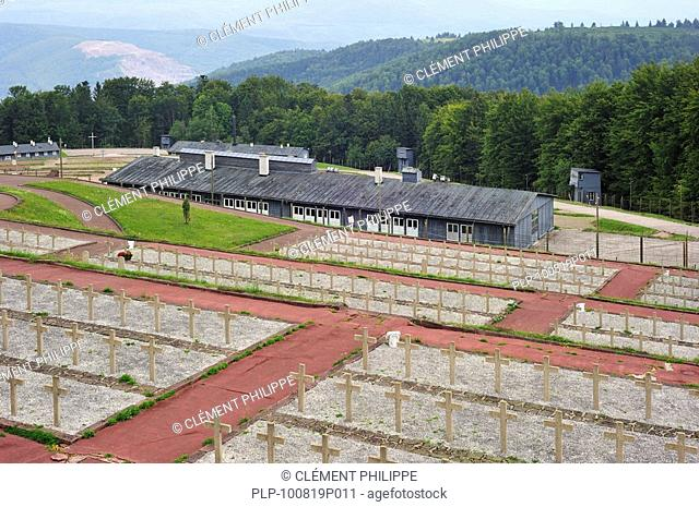 Cemetery and barracks at Natzweiler-Struthof, the only concentration camp established by the Nazis on French territory, Alsace, France