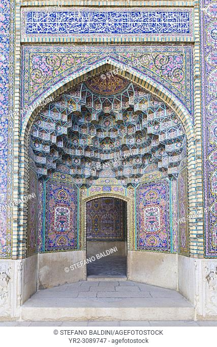 Masjed-e Nasir al-Molk, also known as pink mosque, Shiraz, Iran