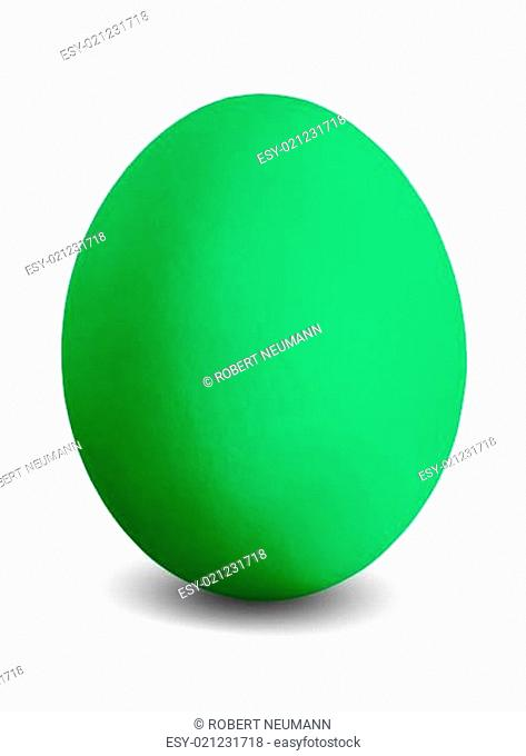 grünes Osterei