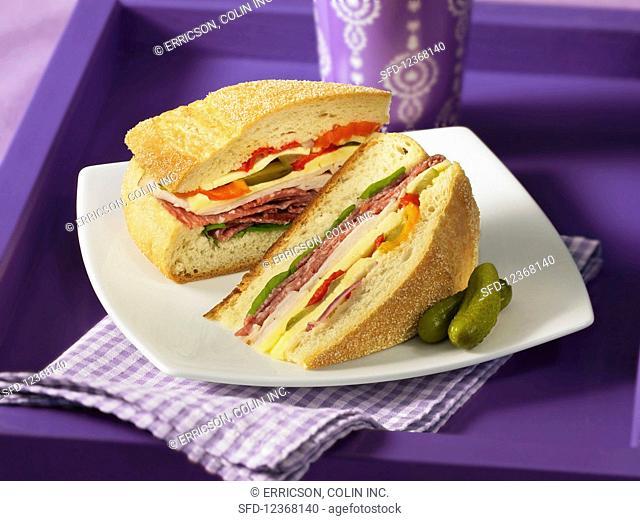 Mufletta stuffed sandwich