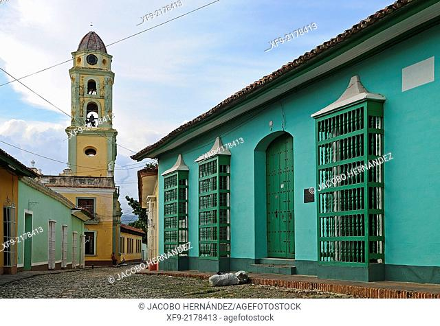 Colonial architecture and Cconvent of San Francisco de Asís.Trinidad.Sancti Spíritus province.Cuba