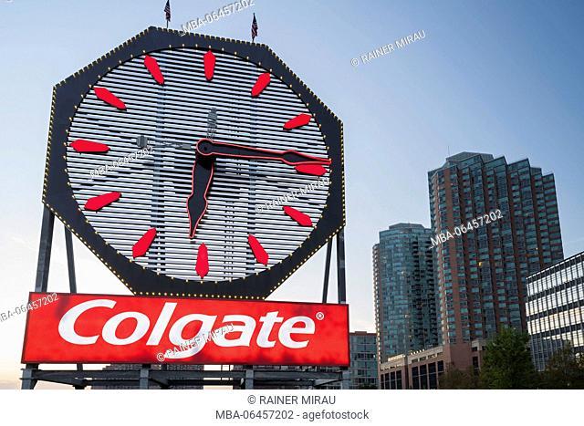 Colgate Clock, Paulus Hook, Hudson River, Jersey city, New Jersey, the USA