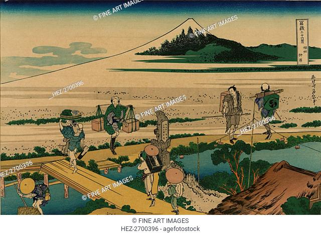 Nakahara in the Sagami province (from a Series 36 Views of Mount Fuji), 1830-1833