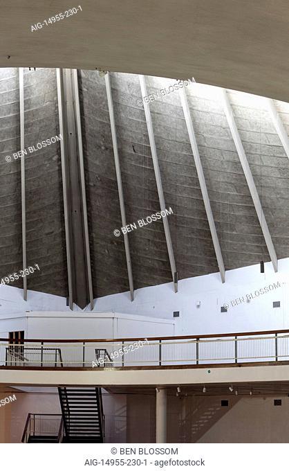 Concrete atrium at Commonwealth Institute to be converted to the new Design Museum, Kensington, London, UK