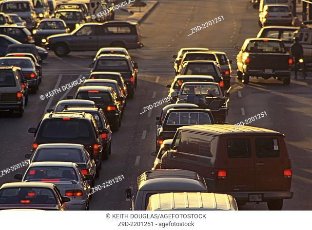 Traffic on Kingsway and Boundary, Vancouver, British Columbia