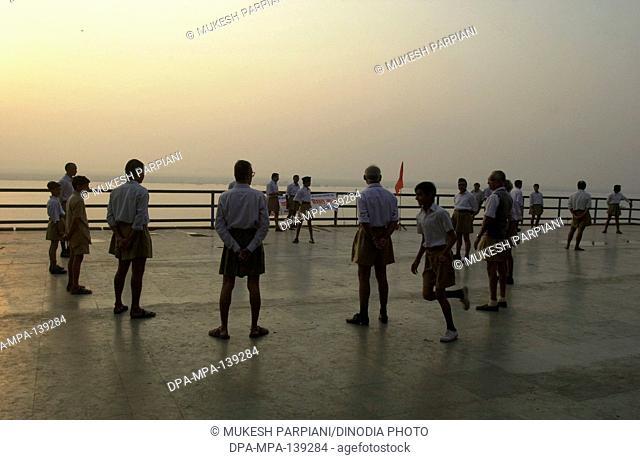 Children playing ; Varanasi ; Uttar Pradesh ; India