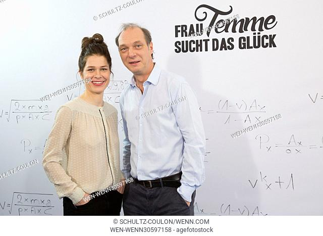 "Actors promoting the new Series """"Frau Temme sucht das Glueck"""" at Side Hotel Featuring: Meike Droste, Martin Brambach Where: Hamburg"