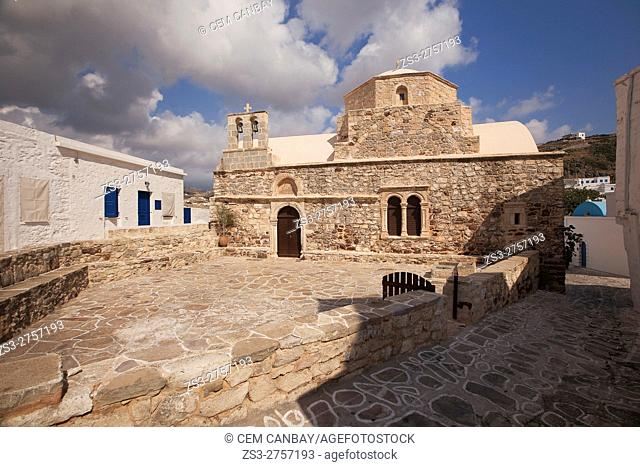 Chrysostomos, the former Metropolis on the north of the Castle in the old town Chora or Chorio, Kimolos, Cyclades Islands, Greek Islands, Greece, Europe