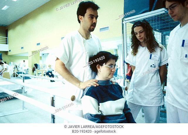 Physiotherapists at hospital rehabilitation area