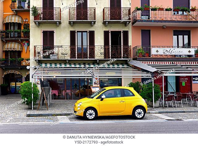 street scene, Porlezza, Province of Como, Lombardy, Italy